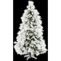 Fraser Hill Farm 7.5-Ft. Flocked Snowy Pine Christmas Tree