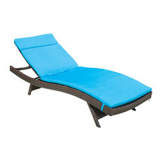 GDFStudio - Lakeport Outdoor Adjustable Chaise Lounge Chair Blue - Outdoor Chaise Lounges  sc 1 st  Houzz : keter chaise lounge - Sectionals, Sofas & Couches