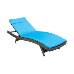 Lakeport Outdoor Adjule Chaise Lounge Chair Blue Waterproof Cushions