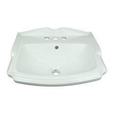 Small Wall Mount Bathroom Sink White China with Overflow  
