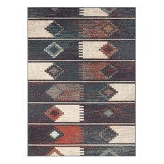 "Well Woven Taos Socorro Modern Scandinavian Tribal Blue 6'7""x9'2"" Rug"
