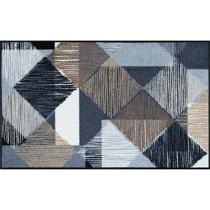 Lines and Boxes Door Mat, 120x75 cm