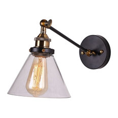 Remix Lighting   Glass Wall Sconce, Black   Wall Sconces