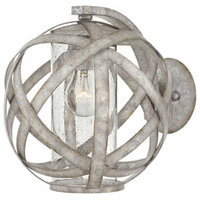 "Hinkley 29700WZ Carson Wall Sconce 1-Light 10"", Weathered Zinc"