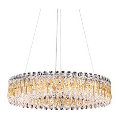 Sarella 12-Light Pendant in Heirloom Gold With Crystal Spectra Crystal