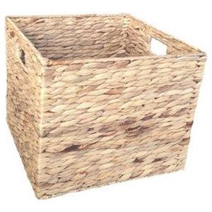 Water Hyacinth Square Storage Basket, Medium