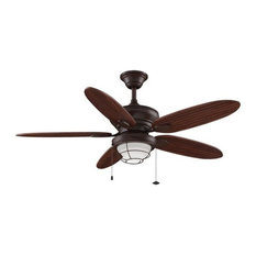 Two blade ceiling fan houzz fanimation fanimation kaya 52 5 blade outdoor ceiling fan blades and light kit mozeypictures Images