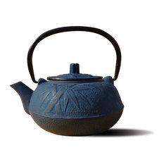 "Blue Cast Iron ""Osaka"" Teapot, 20 oz."