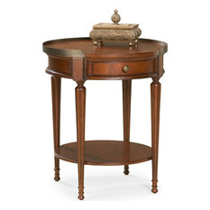 Butler Specialty Transitional Round Accent Table In Plantation Cherry