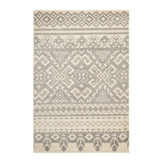 Safavieh Adirondack Collection ADR107 Rug, Ivory/Silver, 11'x15'