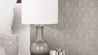 Kylie Minogue Cassia Texture Antique Silver Foil Metallic Wallpaper