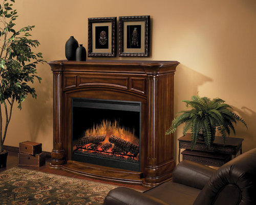 Dimplex - Belvedere Burnished Walnut Electric Fireplace Mantel Package -  GDS30-BW1053 - Indoor Fireplaces - Electric Fireplace Mantel Packages