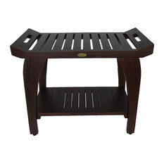 """Tranquility Eastern Style Shower Bench With LiftAid Arms, 30""""x23"""""""
