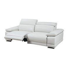 Grace Electric Motion Loveseat, Adjustable Neck Rest Cushions, White