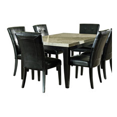Steve Silver Company   Steve Silver Monarch 7 Piece Marble Top Dining Room  Set