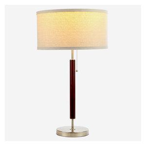 Brightech Carter Desk, LED Side Table, Nightstand & Desk Lamp