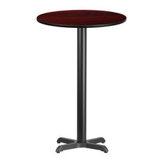 """Dyersburg 24"""" Round Mahogany Laminate Table Top With 42"""" X-Base"""