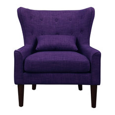 Millett Wingback Chair, Violet