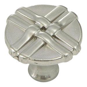 Stone Mill Hardware Satin Nickel Weave Cabinet Knob