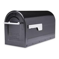 Boulder Post-Mount Mailbox, Black