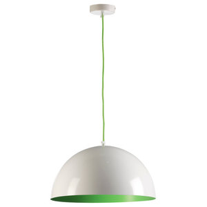 Zenit Pendant Lamp, White and Green