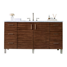 "Metropolitan 60"" American Walnut Single Vanity"