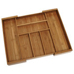 Lipper International - Bamboo Expandable Flatware Organizer - Store and organize your flatware in this bamboo drawer tray.  Expandable to accommodate various drawer widths and utensil sizes.  Made of environmentally friendly bamboo.  No assembly required.  Easy maintenance.  Natural color compliments any decor.  This organizer expands from 13 to 23 inches.
