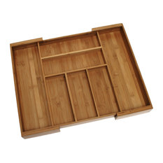 Lipper International   Bamboo Expandable Drawer Organizer   Kitchen Drawer  Organizers
