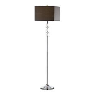 Safavieh Catarina Floor Lamp, Crystal and Grey