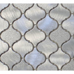 """Rocky Point Tile Co - Cosmo Brushed Aluminum Arabesque Mosaic Tile, Chip Size: 2""""x2"""", 12""""x12"""" Sheet - Nothing says classy like Cosmo! These beautiful aluminum mosaics will look fabulous in your new kitchen! These are a smaller arabesque tile than our glass tiles. Each tile is roughly 2"""" x 2"""" in size. They include a mix of brushed aluminum and textured aluminum that sparkles in the light."""