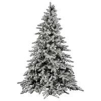 Vickerman Flocked Utica Fir Tree, 12', Unlit