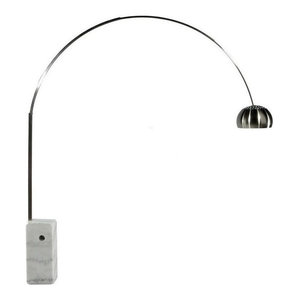 Arch Floor Lamp, Marble Base, White