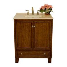 "B&I Direct Imports Sassy Single Sink Transitional Vanity, 30"""