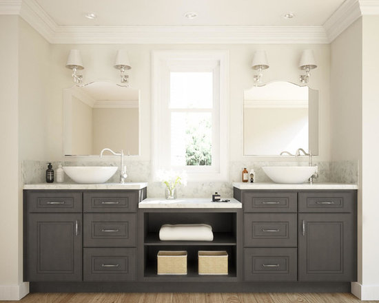 Vanities Bathroom Grey glazed stone grey bathroom vanity