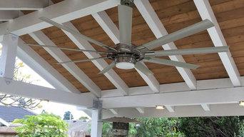 LED Patio Lighting & Ceiling Fan Installation