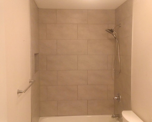 Bathroom 12 Quot X 24 Quot Gray Wall Tile 5 Quot X 24 Quot Wood Plank