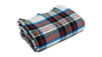 Tartan Dress Stewart Wool Throw