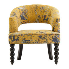 Dieppe Upholstered Armchair, Mustard Yellow