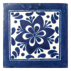 "4""x4"" Mexican Ceramic Handmade Tile #C009"