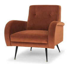 Hugo Occasional Chair, Matte Rust