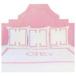 Jill Sorensen - Powder Pink Deco Duvet Cover, Queen - Luxurious 215 thread count cotton percale