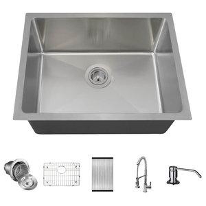 304 Stainless Steel Vintage Inspired Farm Sink 60\u201d Stamped Metal Double Drainboard Basin Kitchen Sink Package