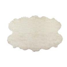 Luxe Faux Fur   Gordon Faux Sheepskin Rug, Off White, 4u0027x6u0027