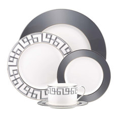 Lenox Gluckstein Darius Silver 5-Piece China Setting, Set of 8