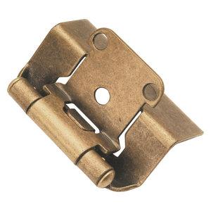 P140-3 KITCHEN CABINET DOOR BELWITH BRASS CUPBOARD OFFSET HINGES PAIR