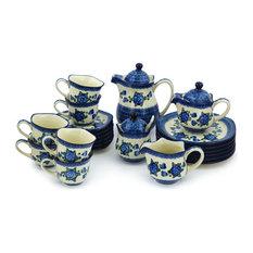 Polmedia Polish Pottery 29 oz. Stoneware Dessert Set For 6