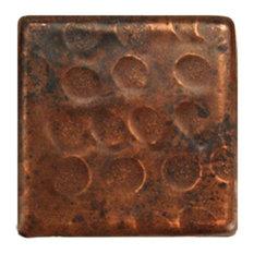 """Hammered Copper Tile, 2""""x2"""", Set of 8"""