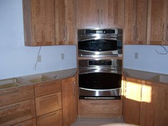 Here Is The Set Up Pre Countertop Install So You Can See The The Angled  Cabinets Construction.