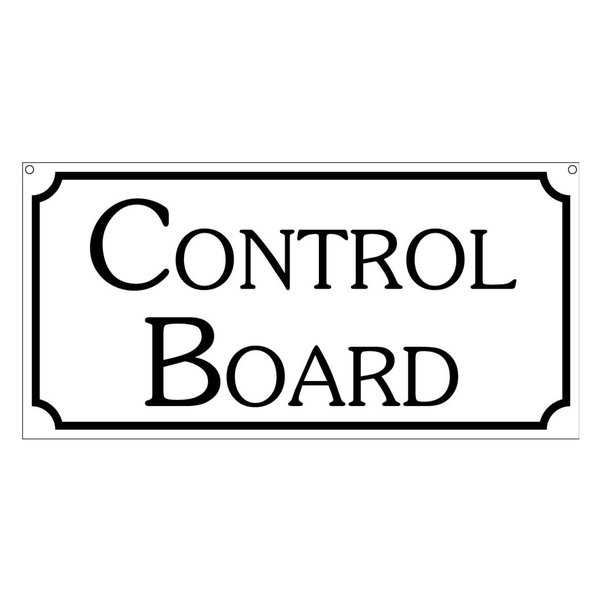 Control Board, Aluminum Casino Boardwalk Fair Carnival Ride Sign, 6