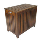 Genuine Teak Bench Hamper